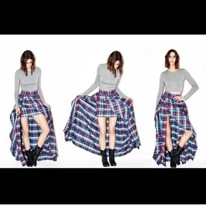 Plaid Maxi Skirt by Misile